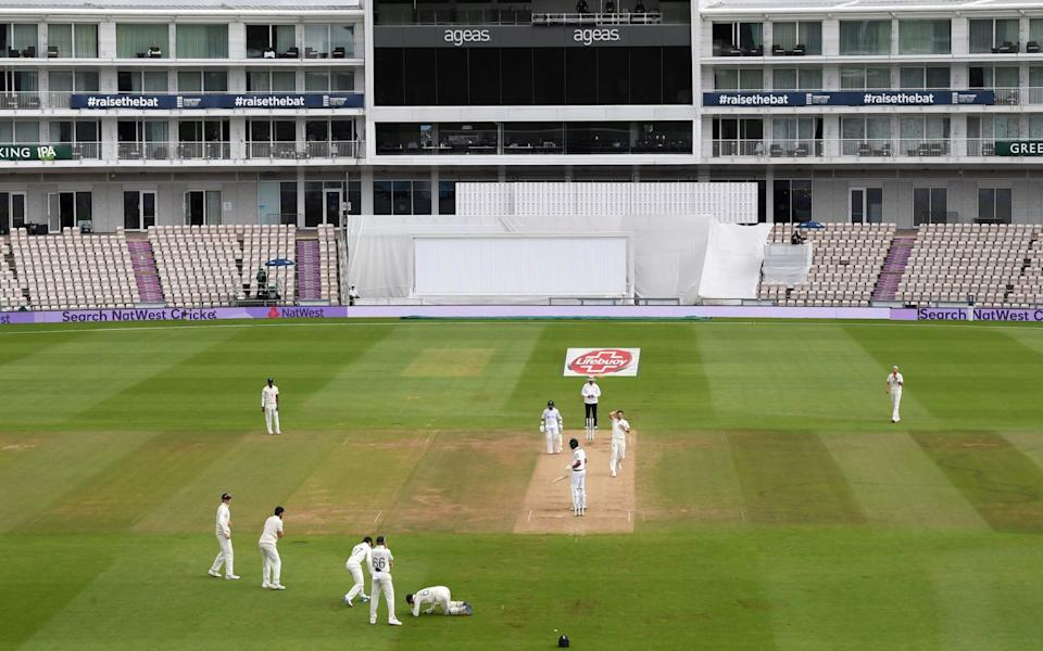Jos Buttler drops a catch off James Anderson's bowling - GETTY IMAGES