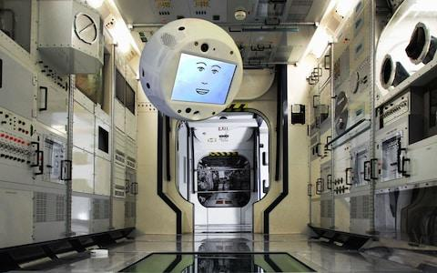 CIMON-2 can float freely and turn to speak to astronauts when they talk to it - Credit: Airbus