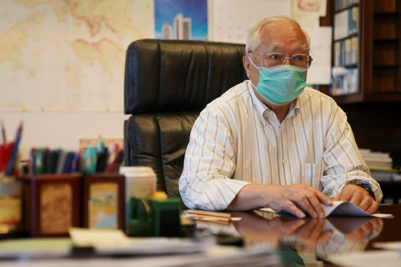 Hopewell Holdings Chairman Gordon Wu attends an interview at his office in Hong Kong