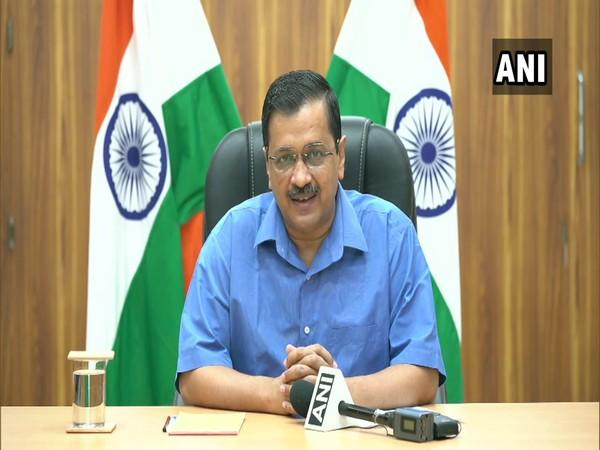 Delhi Chief Minister Arvind Kejriwal addressing a press conference in New Delhi on Thursday. Photo/ANI