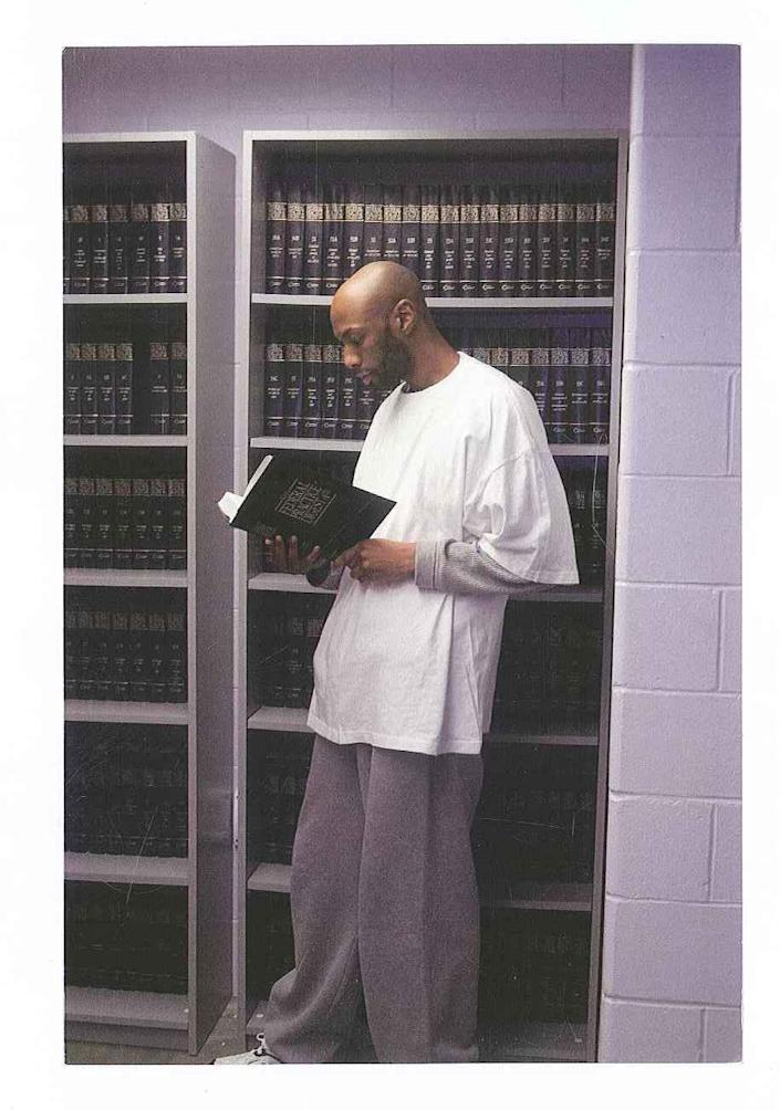 """Dustin Higgs, who is scheduled to be executed on Jan. 15, 2020, is shown inside the federal prison in Terre Haute, Ind.<span class=""""copyright"""">Courtesy attorneys for Dustin Higgs</span>"""