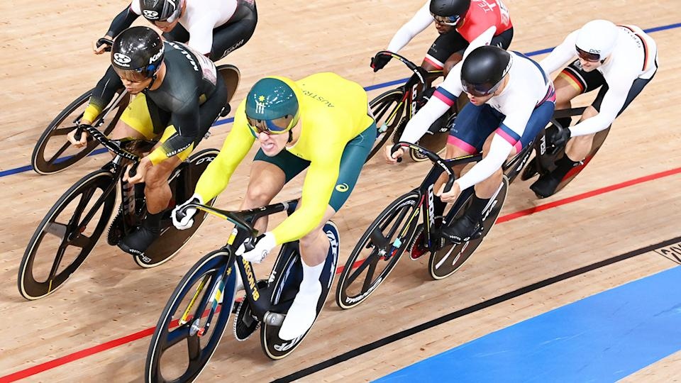 Matthew Glaetzer and Mohd Azizulhasni Awang, pictured here in action during the kierin final at the Olympics.