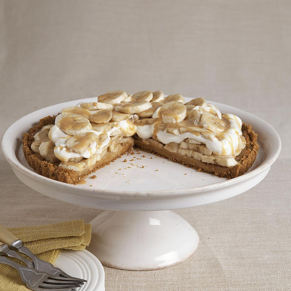 <p>Love bananas, toffee and whipped cream? Then you've got to try this healthy Banoffee Pie recipe--a healthier version of one of Great Britain's sweetest desserts. It is made with layers of toffee, bananas and whipped cream. Our healthier Banoffee Pie recipe has half the calories, over 65 percent less saturated fat and 40 percent less sugar than the original--but all of the amazing flavor.</p>