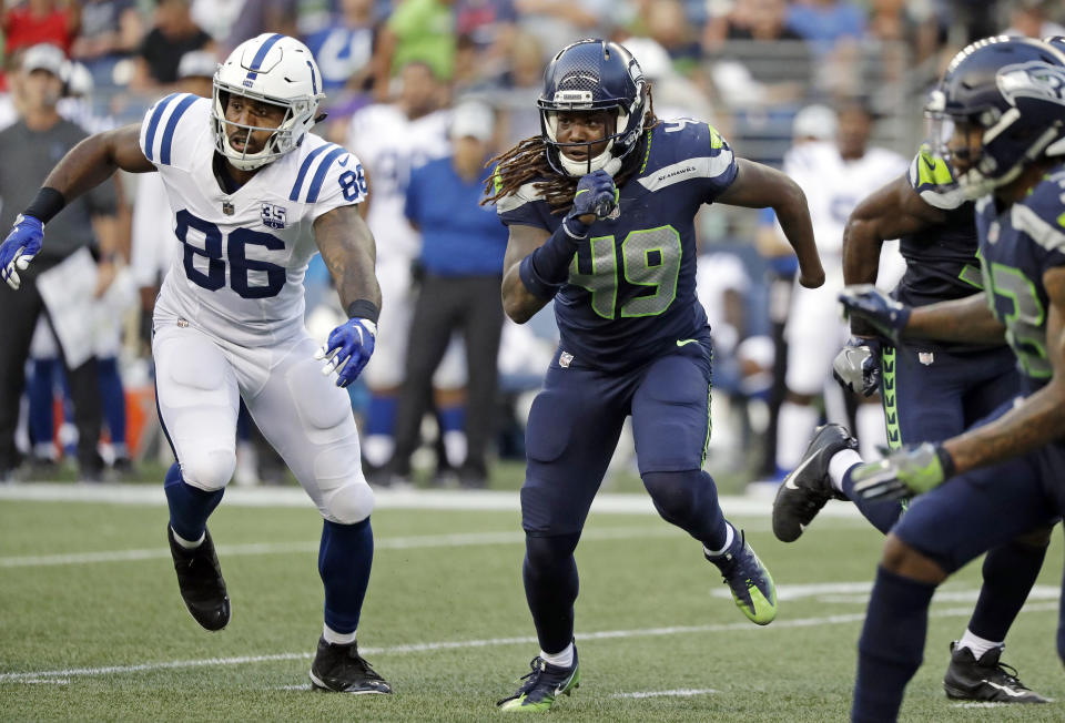 Initially shunned by the NFL combine, Shaquem Griffin looks poised to start in his NFL debut with the Seahawks next week. (AP)