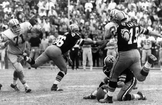 The former Saints kicker, who for decades held the record for the longest field goal in NFL history, died following a brief battle with COVID-19. He was 73. In 1970, Dempsey drilled a 63-yard field goal to give the Saints a one-point win over the Lions. His record-setting kick stood for 43 years.
