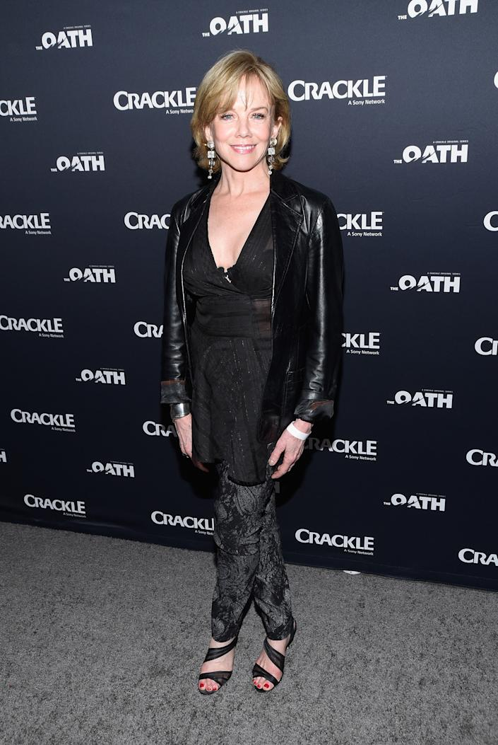 """Linda Purl attends the premiere of Crackle's """"The Oath"""" at Sony Pictures Studios on March 7, 2018 in Culver City, California.  (Photo by Michael Tullberg/Getty Images)"""