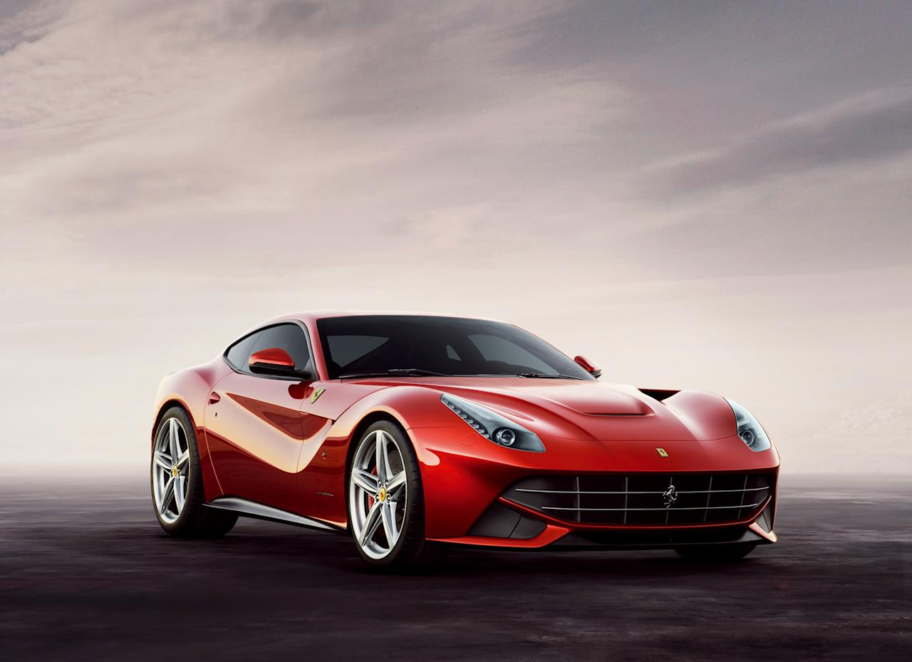 "Using tricks learned from its Formula 1 cars, Ferrari claims the F12 burns less fuel and goes faster than its predecessors thanks to combination of high-tech machinery, wickedly complex weight loss schemes and a bit of black magic aerodynamics. The 6.3-liter V-12 shared with the Ferrari FF has been boosted to 730 hp and 509 ft-lbs of torque, yet can get nearly 19 mpg under Euro testing with an optional stop-start system. That power goes through a seven-speed gearbox and electric differential, both resized to shrink the car's footprint. That gap you see at the top of the hood is what Ferrari calls an ""aero bridge"" -- a tunnel that shunts air out the vents behind the front wheel arches, helping reduce the car's drag."