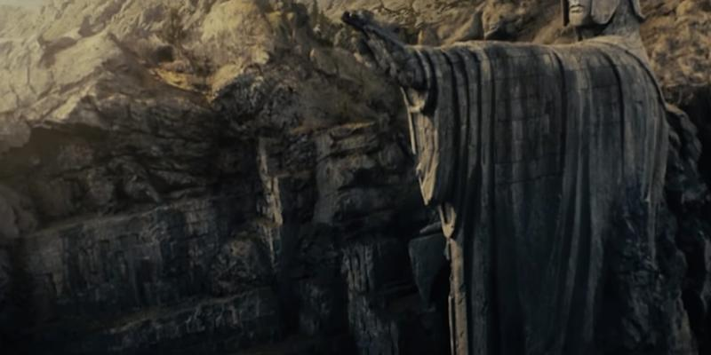Gates of Argonath Lord of the Rings The Fellowship of the Ring New Line Cinema