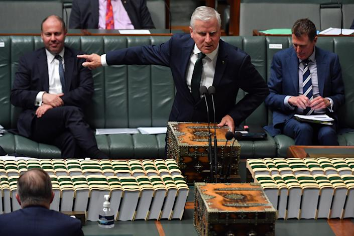 <p>File image: McCormack, who is serving as acting prime minister during a week-long absence for Scott Morrison, calls the US Capitol riots 'unfortunate'</p> (Getty Images)