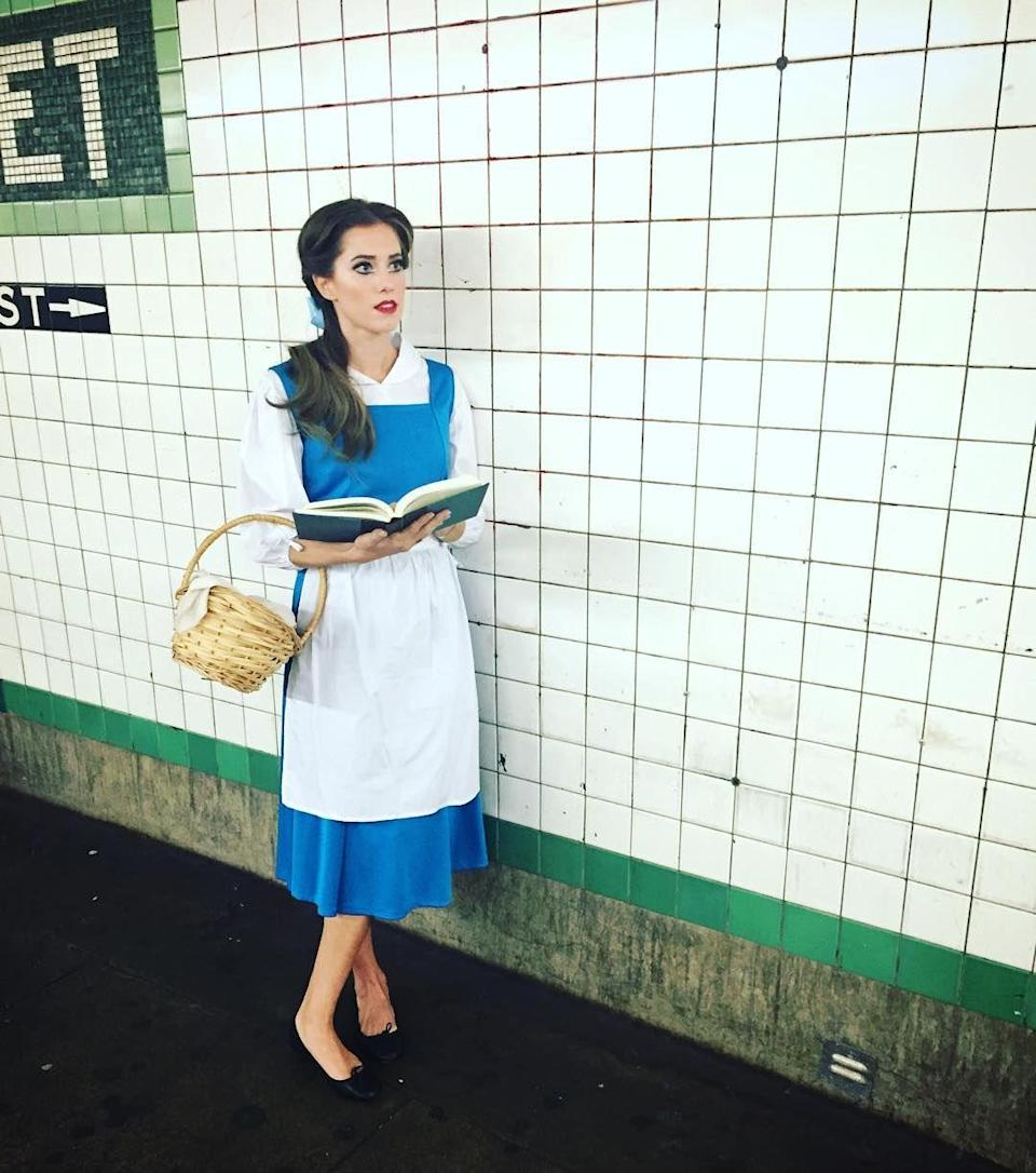 "<p>We had to do a double-take when we saw the actress looking almost identical to the book-obsessed Disney princess. </p><p><strong>RELATED:</strong> <a href=""https://www.goodhousekeeping.com/holidays/halloween-ideas/g4771/disney-halloween-costumes/"" rel=""nofollow noopener"" target=""_blank"" data-ylk=""slk:35 Best Halloween Costumes for Disney Fans"" class=""link rapid-noclick-resp"">35 Best Halloween Costumes for Disney Fans</a></p>"