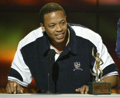 Dr. Dre, $110 million: Dr. Dre accepts his award for Male Entertainer of the Year during the 16th annual Soul Train Awards in Los Angeles, March 20, 2002.