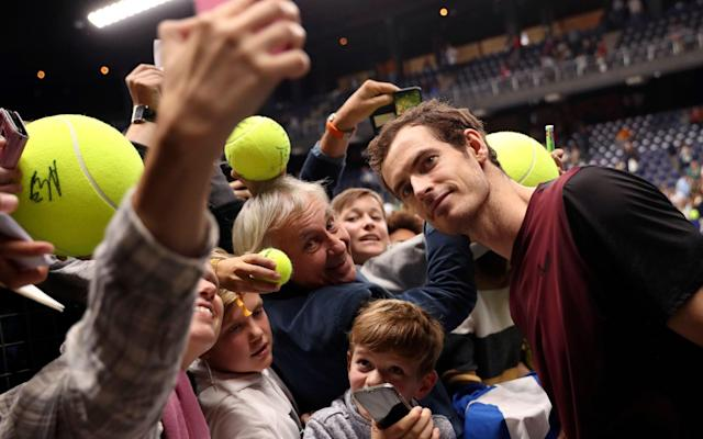 Andy Murray performed something of a miracle to triumph in Antwerp - AP