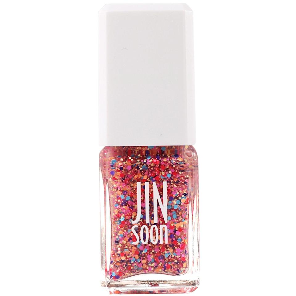 "When it comes to my nails, I'm a firm believer that less is more (unless, of course, you're Cardi B). Yet this Jin Soon polish is making me want to do the most with its dotty, bright colors and sixties go-go vibes. Sorry to <a href=""https://www.glamour.com/story/essie-ballet-slippers?mbid=synd_yahoo_rss"" rel=""nofollow noopener"" target=""_blank"" data-ylk=""slk:Ballet Slippers"" class=""link rapid-noclick-resp"">Ballet Slippers</a>, but I'm ready to let my nails reflect some summertime fun. <em>—Alexa De Paulis, contributor</em> $18, Amazon. <a href=""https://www.amazon.com/JINsoon-Fab-Nail-Polish-oz/dp/B016NBGIK0"" rel=""nofollow noopener"" target=""_blank"" data-ylk=""slk:Get it now!"" class=""link rapid-noclick-resp"">Get it now!</a>"