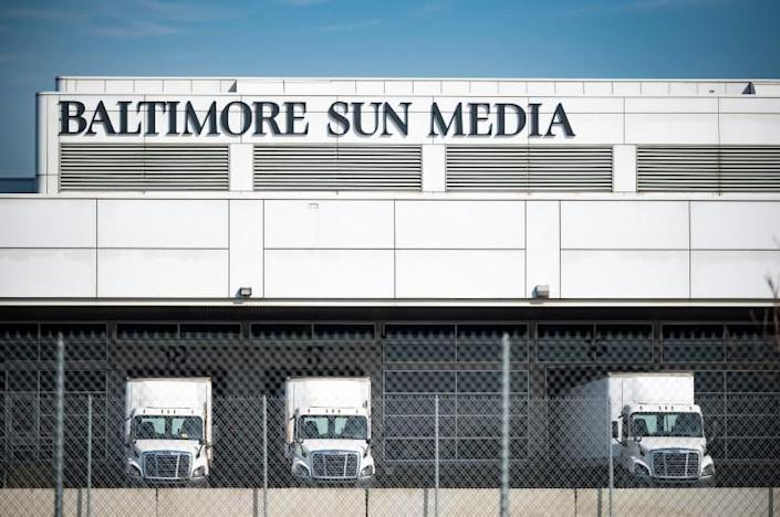 The Baltimore Sun has moved its newsroom to this headquarters building with its printing operations, but journalists have been working remotely during the pandemic