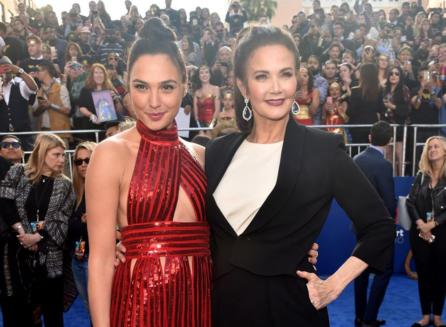 """<p>Wonder Women now and then: Gal Gadot, 32, poses with the original TV superheroine Lynda Carter, 65, at the """"Wonder Woman"""" premiere in Hollywood on May 25. """"What Lynda Carter did with the character is fantastic and amazing, and I love it,"""" <a rel=""""nofollow"""" href=""""http://www.gamesradar.com/wonder-woman-star-gal-gadot-and-director-patty-jenkins-on-how-lynda-carters-portrayal-inspired-them/"""">Gadot recently told SFX magazine</a>. """"The Wonder Woman that is being introduced — reintroduced — now is different [but] she has a lot of the qualities Lynda Carter brought to the Wonder Woman character of '75."""" (<a rel=""""nofollow"""" href=""""http://variety.com/2016/tv/news/lynda-carter-wonder-woman-gal-gadot-1201884326/"""">Carter told <em>Variety</em></a> last year that she was approached about an appearance in the movie, but couldn't work it into her schedule, alas.) (Photo: Alberto E. Rodriguez/Getty Images) </p>"""