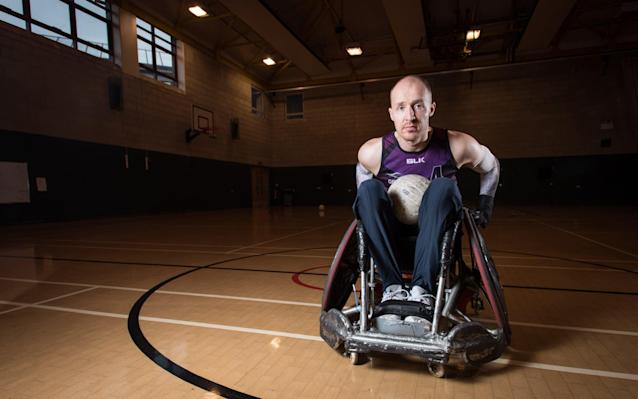 <span>Like most of the other sports, wheelchair rugby has started a crowdfunding page</span> <span>Credit: Darren O'Brien </span>