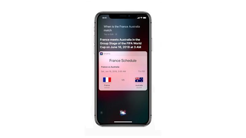 Siri as seen being used on an iPhone X.