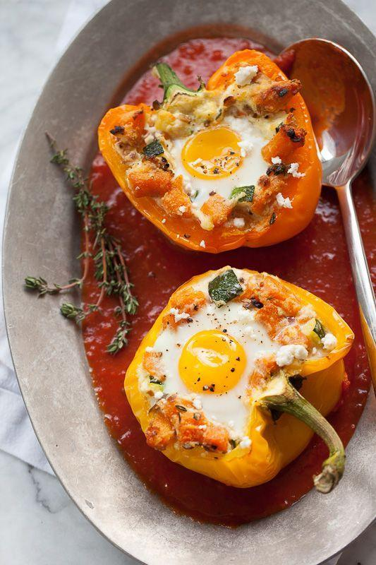 """<p>If you're not serving your eggs in baked bell peppers, you're missing out.</p><p><a href=""""http://www.foodiecrush.com/baked-eggs-in-stuffed-peppers/#"""" rel=""""nofollow noopener"""" target=""""_blank"""" data-ylk=""""slk:Get the recipe from FoodieCrush »"""" class=""""link rapid-noclick-resp""""><em>Get the recipe from FoodieCrush »</em></a></p>"""