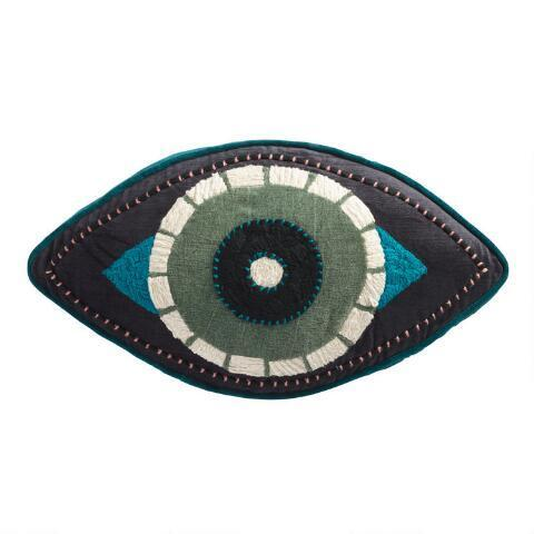 "<br> <br> <strong>Cost Plus World Market</strong> Teal & Black Evil Eye Gusseted Throw Pillow, $, available at <a href=""https://go.skimresources.com/?id=30283X879131&url=https%3A%2F%2Fwww.worldmarket.com%2Fproduct%2Fteal%2Band%2Bblack%2Bevil%2Beye%2Bgusseted%2Bthrow%2Bpillow.do"" rel=""nofollow noopener"" target=""_blank"" data-ylk=""slk:Cost Plus World Market"" class=""link rapid-noclick-resp"">Cost Plus World Market</a>"