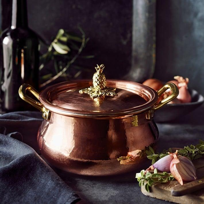 <p>This <span>Ruffoni Historia Hammered Copper Stock Pot With Pineapple Knob</span> ($275) will make a compliment-worthy pot for simmering soups, stews, braises . . . you name it! Save it for the next gathering, and watch the praise roll in.</p>