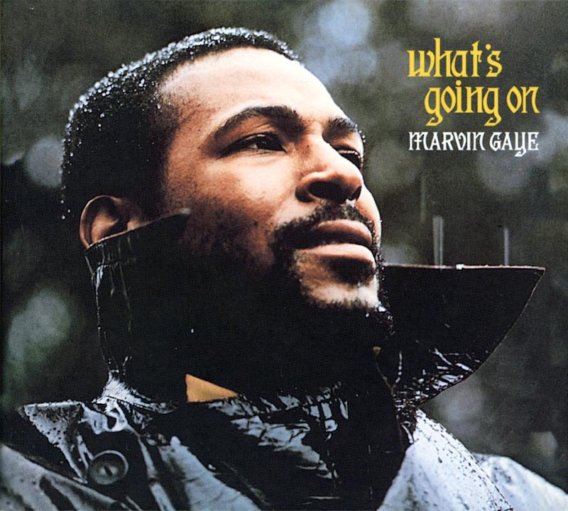 "The cover image of Marvin Gaye's ""What's Going On"" album."