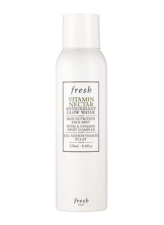 """<p><strong>Fresh</strong></p><p>sephora.com</p><p><strong>$44.00</strong></p><p><a href=""""https://go.redirectingat.com?id=74968X1596630&url=https%3A%2F%2Fwww.sephora.com%2Fproduct%2Fvitamin-c-antioxidant-glow-face-mist-P433979&sref=https%3A%2F%2Fwww.marieclaire.com%2Fbeauty%2Fg36111345%2Fface-mists%2F"""" rel=""""nofollow noopener"""" target=""""_blank"""" data-ylk=""""slk:SHOP IT"""" class=""""link rapid-noclick-resp"""">SHOP IT</a></p><p>Mists aren't just refreshment in a bottle; this one actually makes skin brighter and improves texture over time. Its Fruit Complex of Vitamins C. E, and B5, lemon and orange extracts, and minerals improves radiance and fights damaging free-radicals for a sunlit glow. </p>"""