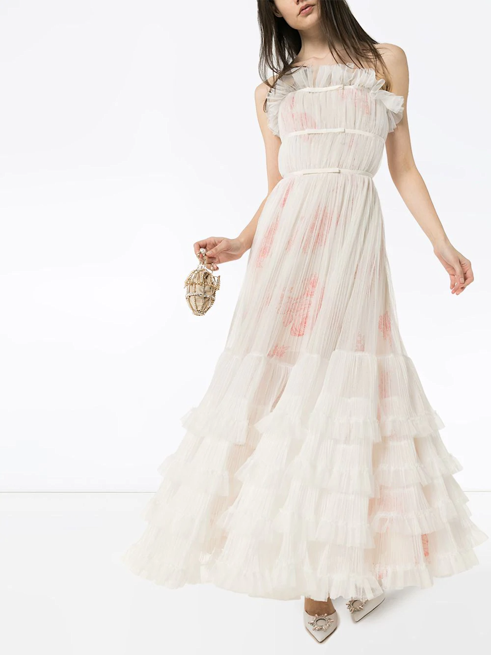 """<h2><a href=""""https://www.farfetch.com/kw/shopping/women/bridal-dresses-1/items.aspx"""" rel=""""nofollow noopener"""" target=""""_blank"""" data-ylk=""""slk:Farfetch"""" class=""""link rapid-noclick-resp"""">Farfetch</a></h2><br>For those looking for a dress that only <em>looks</em> bridal, Farfetch has styles from high-end brands like Lanvin, Giambattista Valli, and Saint Laurent. If bridal is what you're after, though, the retailer does carry labels like Jenny Packham and Temperley London who are beloved for their wedding styles."""
