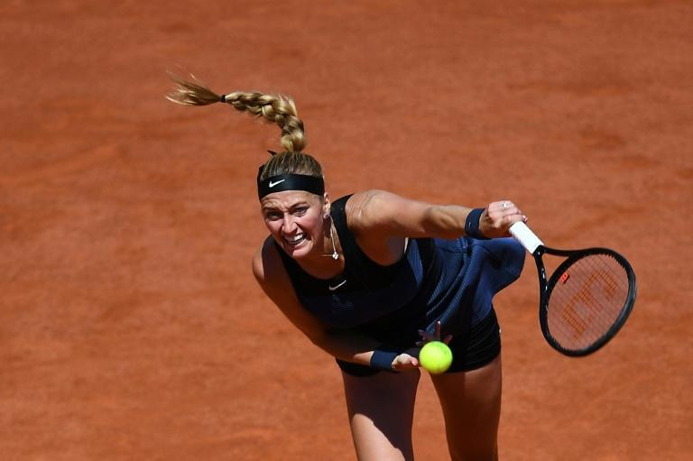 Kvitova saved a match point in her first-round win