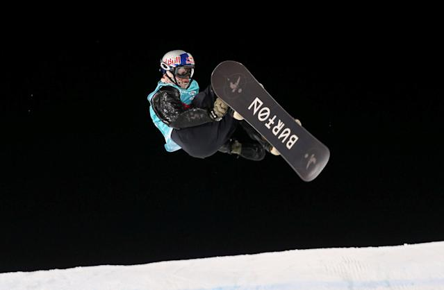 Snowboarding - X Games Men's Big Air Snowboard finals, Hafjell, Norway - 11/03/17 - Gold medalist Mark McMorris from Canada.NTB Scanpix/Geir Olsen/via REUTERS ATTENTION EDITORS - THIS IMAGE WAS PROVIDED BY A THIRD PARTY. FOR EDITORIAL USE ONLY. NORWAY OUT. NO COMMERCIAL OR EDITORIAL SALES IN NORWAY. NO COMMERCIAL SALES.