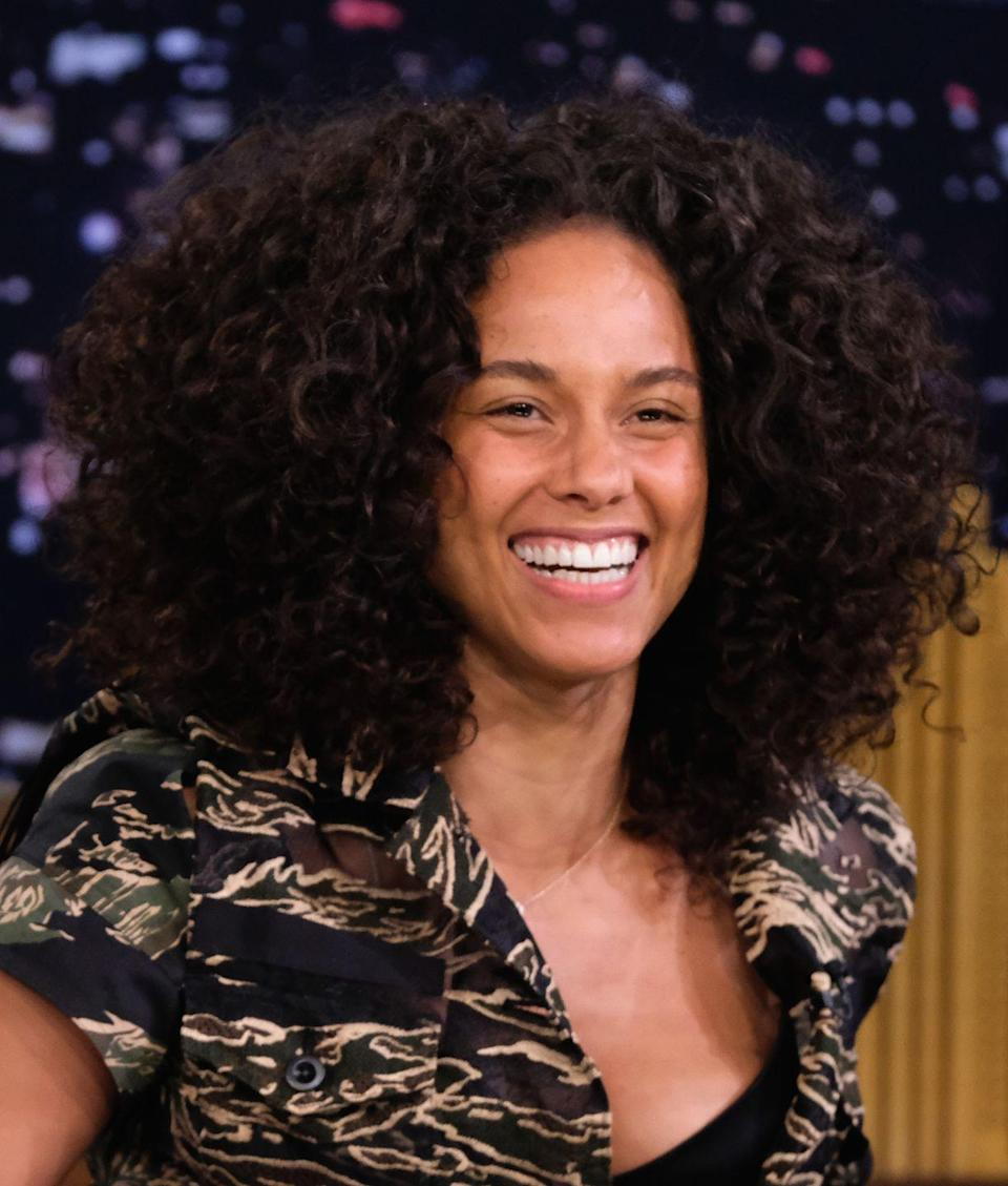 """<p><strong>Real name: </strong>Alicia Augello Cook<br></p><p>Okay, so """"keys"""" for a singer is pretty too perfect to be real, and <a href=""""http://www.hollywood.com/celebrities/celebrities-who-changed-their-names-60201797/#/ms-20729/15"""" rel=""""nofollow noopener"""" target=""""_blank"""" data-ylk=""""slk:that's because it's a stage name"""" class=""""link rapid-noclick-resp"""">that's because it's a stage name</a>. Her real name was Cook, but she chose to go with a name more aligned with a musical career. </p>"""