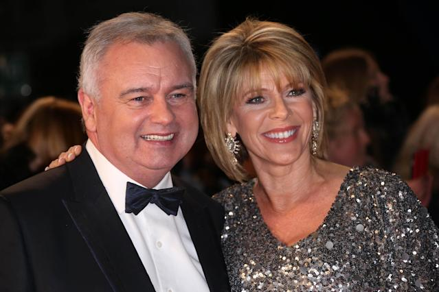 Eamonn Holmes co-hosts <em>This Morning</em> with wife Ruth Langsford. (AP)