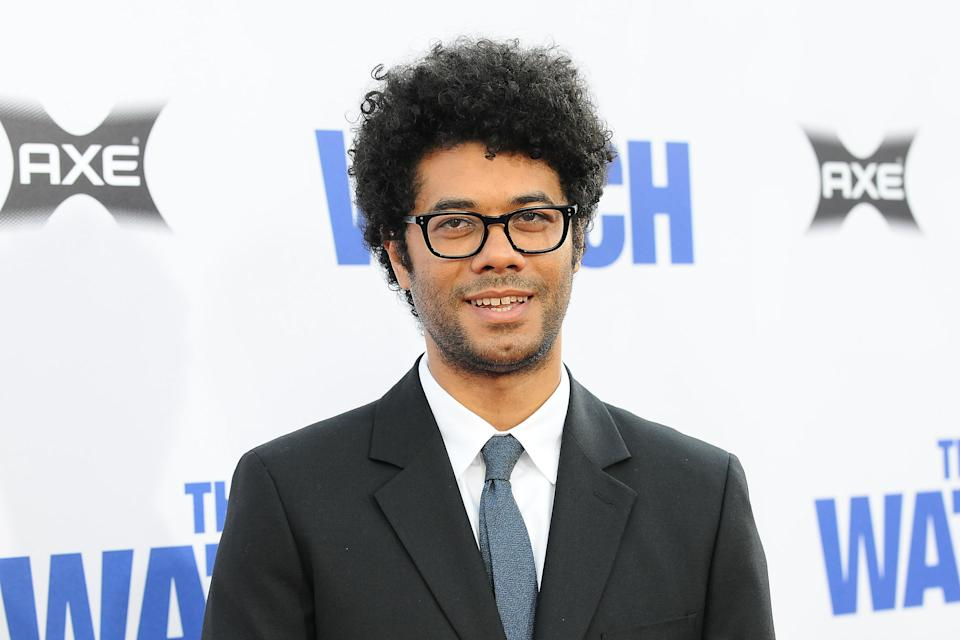 """HOLLYWOOD, CA - JULY 23:  Actor Richard Ayoade attends the premiere of """"The Watch"""" at Grauman's Chinese Theatre on July 23, 2012 in Hollywood, California.  (Photo by Jason LaVeris/FilmMagic)"""