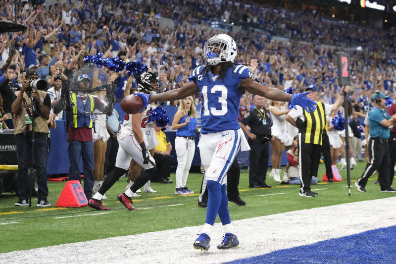 The Indianapolis Colts will be without receiver T.Y. Hilton against the Pittsburgh Steelers this Sunday. (AP/AJ Mast)