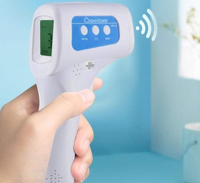 Get this Berrcom No-Contact Infrared Forehead Thermometer for just $27, or $63 off. (Photo: Berrcom)