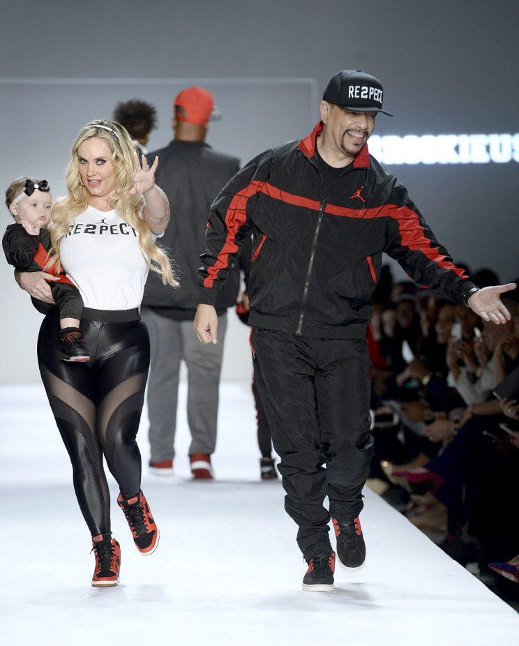 Coco, Ice-T, and baby Chanel are one stylish family! (Photo: Fernanda Calfat/Getty Images for New York Fashion Week: The Shows)