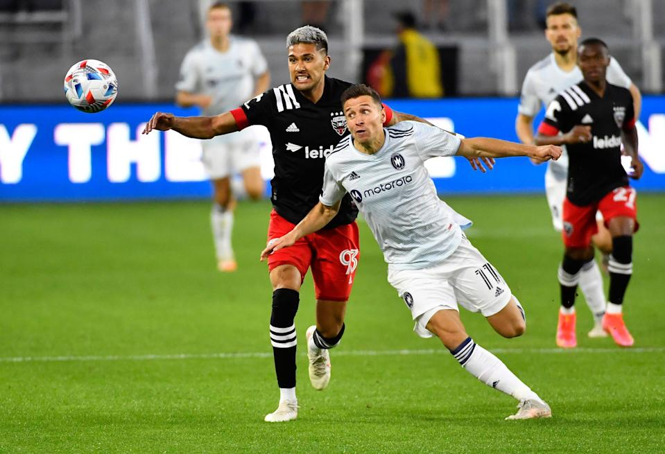 Chicago Fire FC midfielder Przemyslaw Frankowski (11) has been named to Poland's roster for Euro 2020.