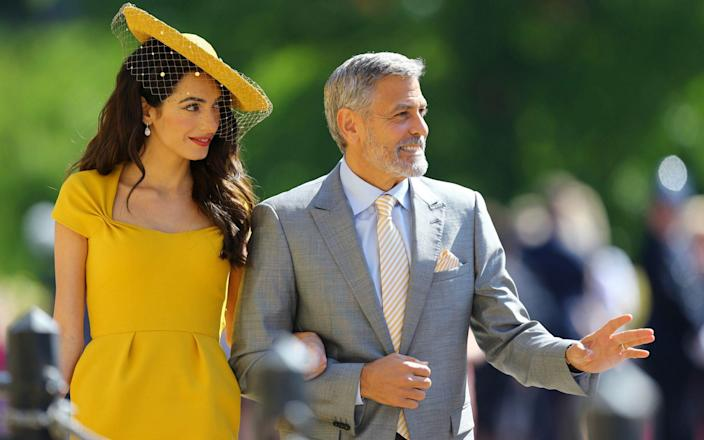 Amal and George Clooney - WPA Pool