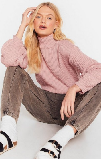 This turtle neck with puffed sleeves is just $20 today, on sale from $32. Photo: Nasty Gal