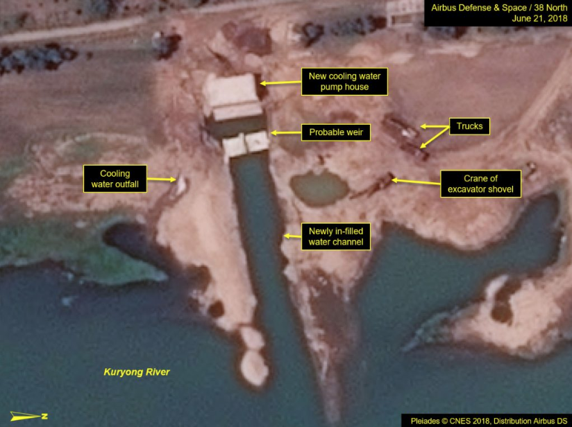 North Korea is carrying out improvements to its nuclear testing facility