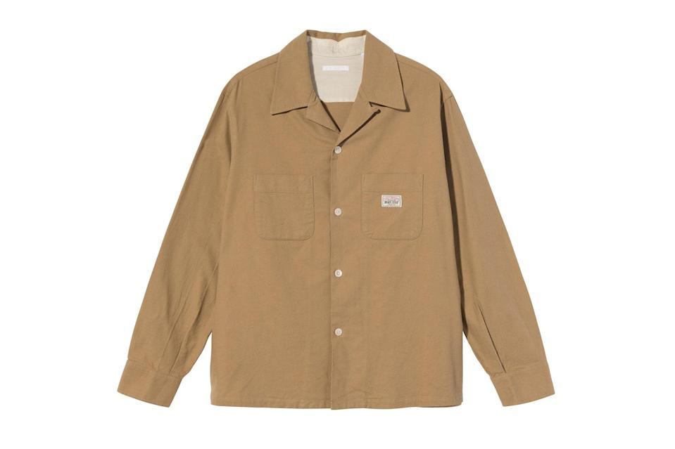 "$220, Stüssy. <a href=""https://www.stussy.com/collections/new-arrivals/products/heusen-shirt-camel-brushed-flannel?variant=32954034651232"" rel=""nofollow noopener"" target=""_blank"" data-ylk=""slk:Get it now!"" class=""link rapid-noclick-resp"">Get it now!</a>"