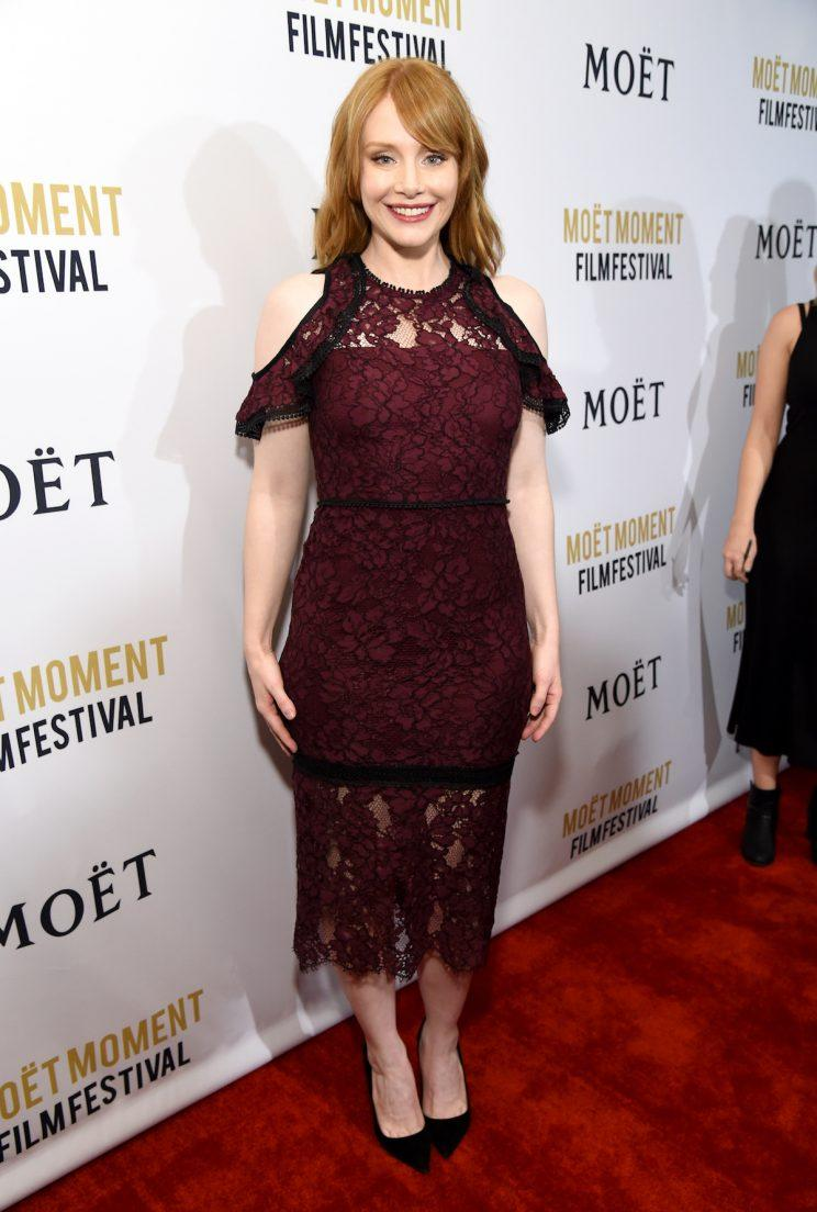 WEST HOLLYWOOD, CA - JANUARY 04: Actress Bryce Dallas Howard attends Moet & Chandon Celebrates The 2nd Annual Moet Moment Film Festival and Kicks off Golden Globes Week at Doheny Room on January 4, 2017 in West Hollywood, California. (Photo by Michael Kovac/Getty Images for Moet & Chandon)