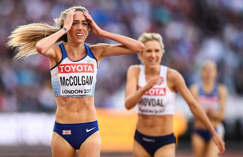 McColgan doesn't want online comments to affect the body confidence of young athletes. (Credit: Getty Images)