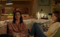 """<p>Unlike many shows set in NYC, <em><a href=""""https://www.cosmopolitan.com/entertainment/tv/a21348615/bold-type-season-2-review/"""" rel=""""nofollow noopener"""" target=""""_blank"""" data-ylk=""""slk:The Bold Type"""" class=""""link rapid-noclick-resp"""">The Bold Type</a></em> works hard to realistically depict the money struggles that 20-somethings experience in the Big Apple. For part of the series, Sutton and Jane live together in an apartment that appears to be a one-bedroom and Sutton sleeps on a bed in the living room (which you can see behind them in this shot). Hey, when money is tight, sometimes you have to get a little uncomfortable. </p>"""