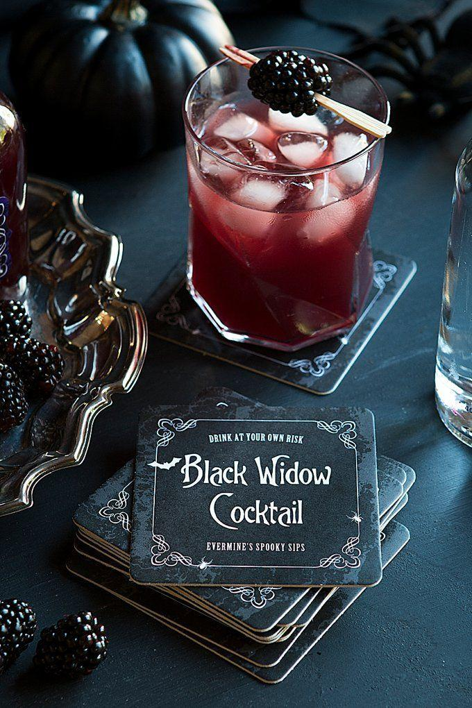 "<p>This cocktail, made with vodka and blackberries, has a venomous bite. Drink it if you dare.</p><p><em><a href=""https://www.evermine.com/blog/spooky-sips-black-widow-cocktail/"" rel=""nofollow noopener"" target=""_blank"" data-ylk=""slk:Get the recipe from Evermine »"" class=""link rapid-noclick-resp"">Get the recipe from Evermine »</a></em> </p>"