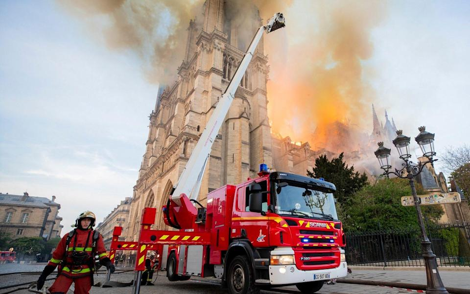 Notre Dame Cathedral Fire - Benoit Moser/AP