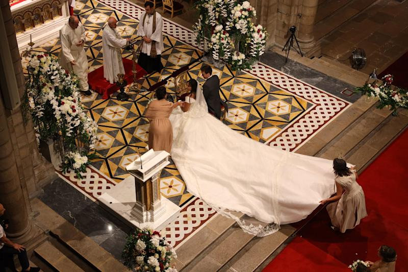 Religious wedding took place at Monaco Cathedrale with more than 200 guests.