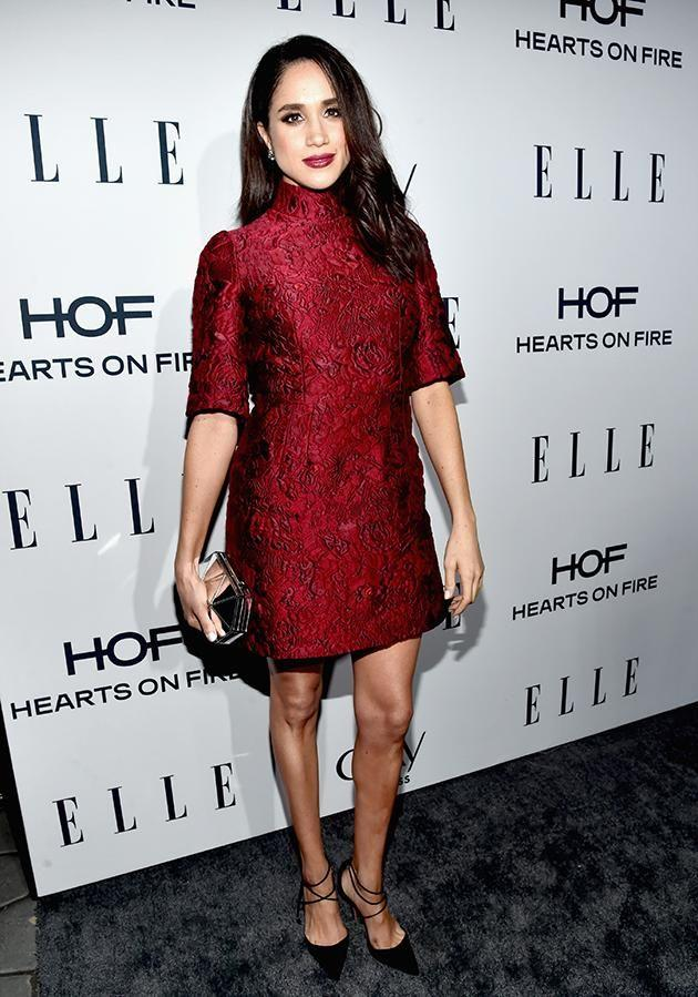 Mark also wore a red dress from the designer in January last year at the Elle Women in Television Dinner. Photo: Getty.