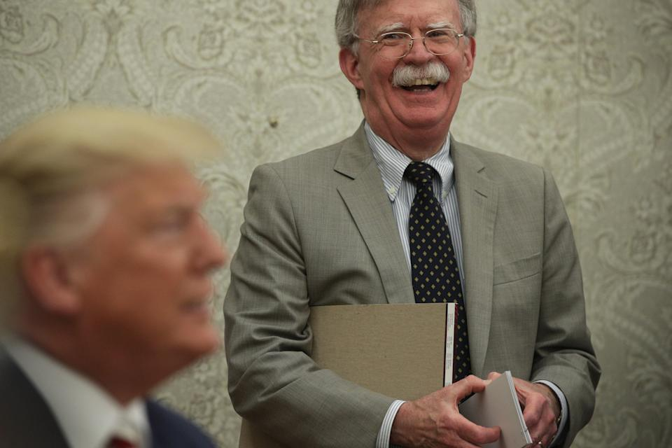 The US Justice Department has dropped its lawsuit against John Bolton over a book he wrote criticizing Donald Trump's presidency (Getty Images)