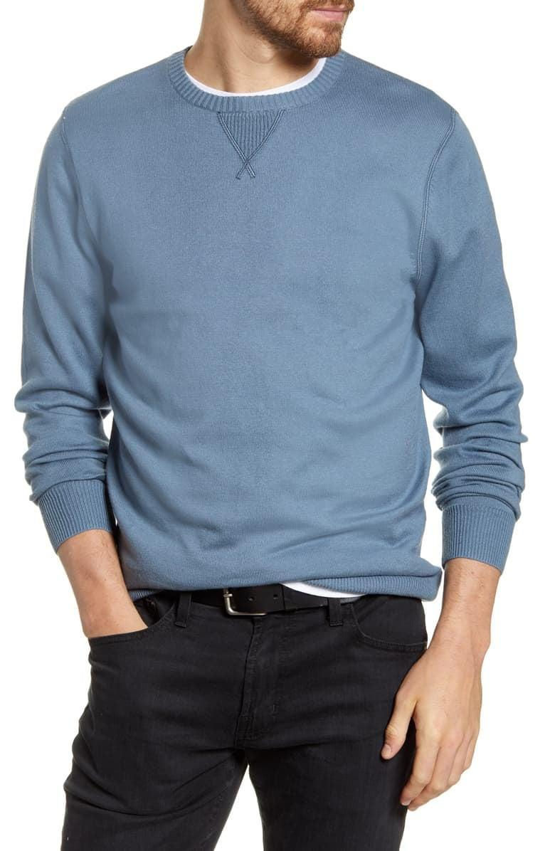 <p>This <span>1901 Solid Crewneck Sweater</span> ($50) comes in several colors.</p>