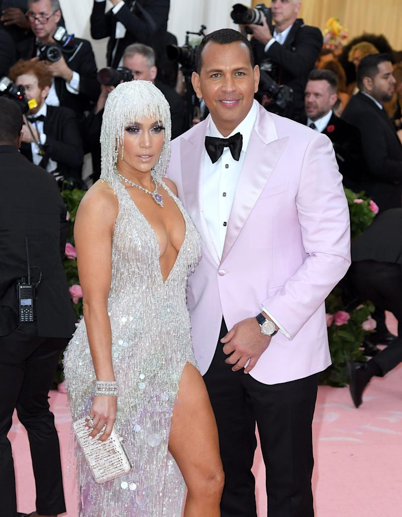 Jennifer Lopez and Alex Rodriguez arrive for the 2019 Met Gala at the Metropolitan Museum of Art on May 6 in New York City.  (Photo: Karwai Tang via Getty Images)